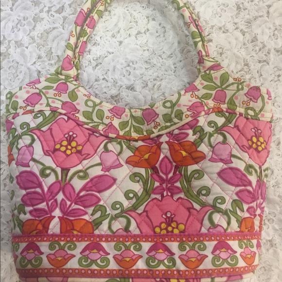 Vera Bradley Handbags - [Vera Bradley] pink tulips bag purse shoulder